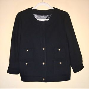 J. Crew Wool Blazer with Gold-Tone Buttons